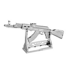 Nanyuan 3D fém puzzle AK-47 Katonai fegyverek Modell DIY Lézer vágott összeszerelése Jigsaw Toys Asztali dekoráció GIFT Audit
