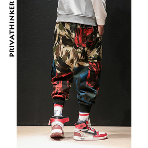 Image 3 - Privathinker תוספות הסוואה גברים מכנסיים מטען 2020 היפ הופ Streetwear גבר רצים מכנסיים יפני זכר מזדמן מכנסי טרנינג בתוספת גודל