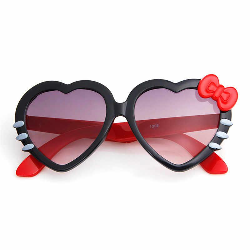 ... Модные детские солнцезащитные очки дети принцесса Милый ребенок Привет- очки оптовая продажа высокое качество мальчики ... c23563856fe
