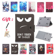 Case Protective-Cover Tablet Universal PU Print for Prestigio Wize 3618 4G Pmt3618/8inch/Tablet/..