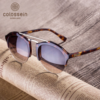 COLOSSEIN BLUE LABEL Fashion Sunglasses Women Men Hot Summer Vintage Holiday Cat Eye Style Glasses 2017