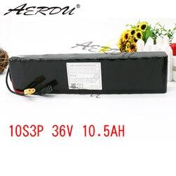 AERDU 10S3P 10.5Ah 36V Ad Alta capacità di alimentazione 42V 18650 batteria al litio ebike auto elettrica bicicletta a motore scooter con 25A BMS