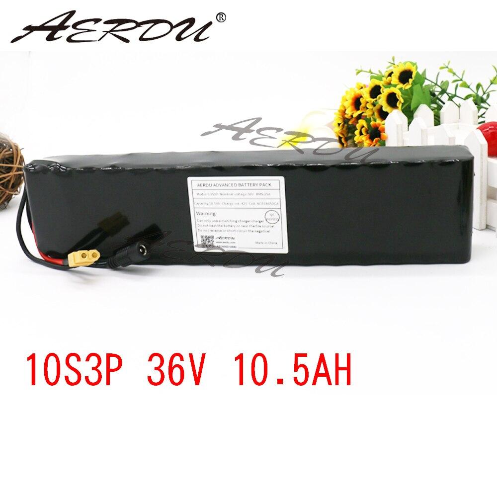 AERDU 10S3P 10.5Ah 36V haute capacité 42V 18650 batterie au lithium pack ebike voiture électrique vélo moteur scooter avec 25A BMS
