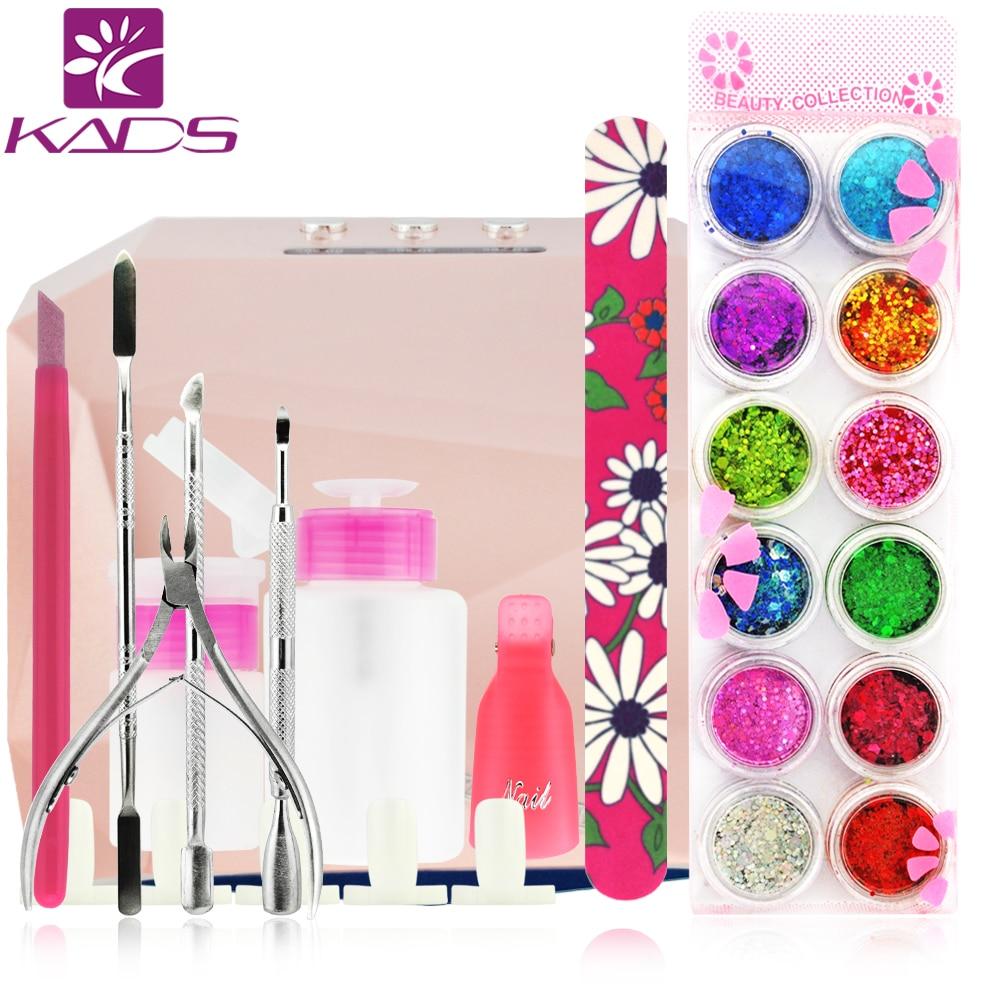 Фото 36w LED Lamp French Manicure Kit Nail Art Tools Sets Kits Nail Gel Nails Tools And LED UV Lamp for  UV Gel Nail Art Tools
