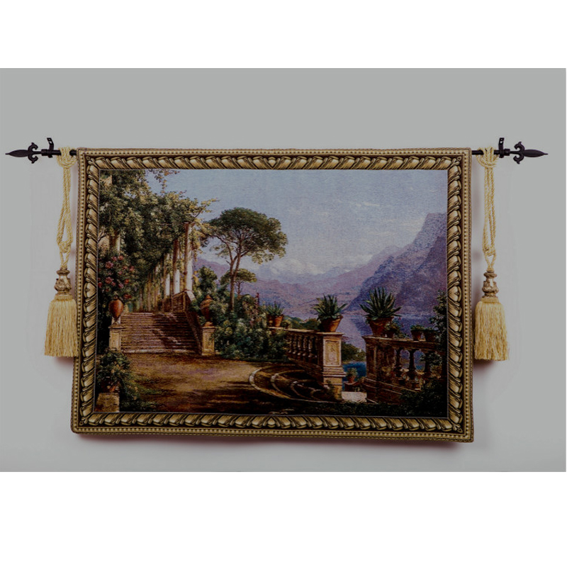 Aliexpress Buy Lago Como Scenic Wall Tapestry Fabric