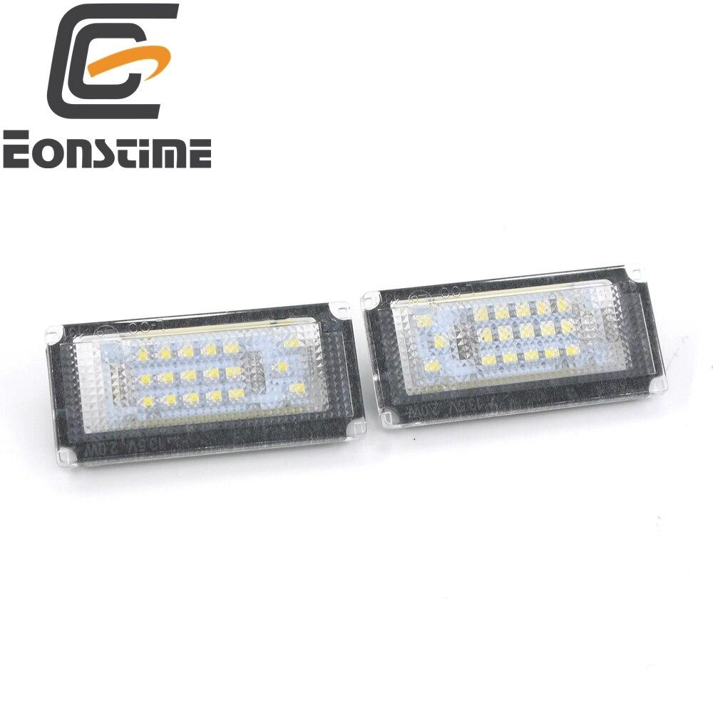 цена на Eonstime 6000K White 2PCS 18 LED License Plate Lights Lamp for BMW Mini Cooper Convertible   R50 R52 R53 2004-2008 12V DC