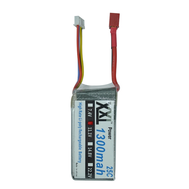 XXL RC battery 1300mah 11.1V 3S 25C MAX 50C for QAV 250 KT Plate fixed-wing Helicopter Airplane