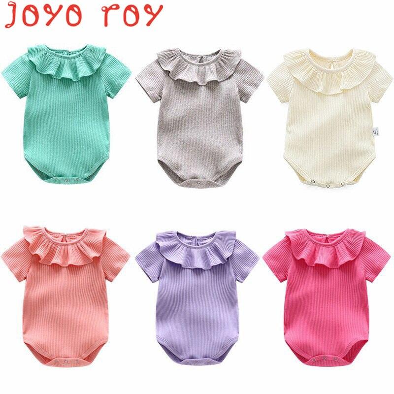 Joyo roy Nieuw artikel Kuil driehoek Rompertjes Baby meisjes Effen - Babykleding - Foto 1