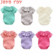 Joyo roy Triangle Rompers Baby Girls Solid Short Sleeve Clothes Take Out Climb Full Moon Summer dj0028R