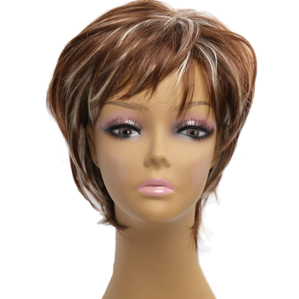 Amir ombre wigs short blonde wigs synthetic female short haircut wigs for Afirca American women wigs Perruque