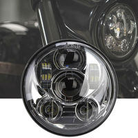 5.75inch Round Led Projection Daymaker Headlight Motorcycle H4 Hi Lo Beam 5 3/4 inch Headlamp for Harley Softail Dyna Sportster