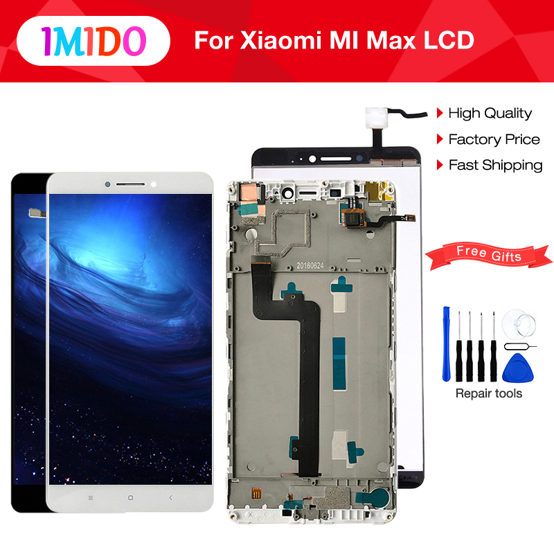 No Dead Pixel Screen For XIAOMI Mi Max LCD Display Touch Screen Digitizer with Frame for Xiaomi Mi Max LCD Display Replacement