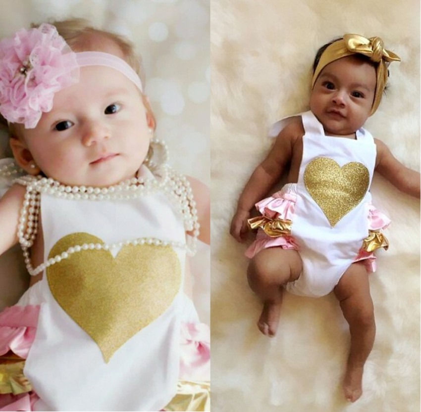 75004a6a349 2018 NEW Infant Baby Girls Love Print Romper Halter Crawl ROUPAS One pieces Newborn  Girls Outfits Sunsuit-in Bodysuits from Mother   Kids on Aliexpress.com ...
