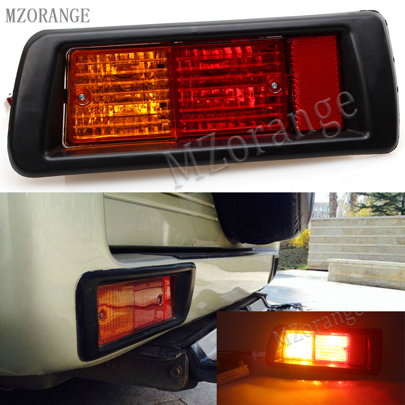 MZORANGE Tail Lights for TOYOTA LAND CRUISER PRADO 1996 1997 1998 1999 2000 2001 2002 Light Rear Bumper Reflector Fog Light руководящий насос range rover land rover 4 0 4 6 1999 2002 p38 oem qvb000050