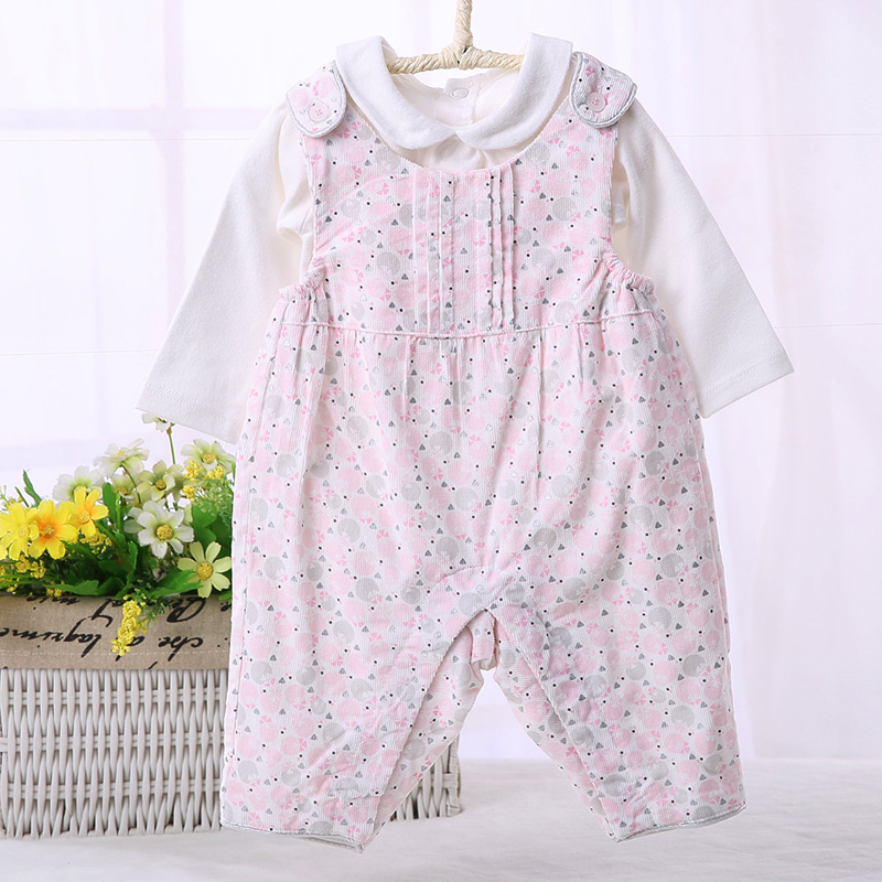 Toddler baby girls autumn cotton bib overalls kids baby girl clothes dungarees salopette ...