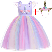 2019 Summer Kids Dresses For Girls Unicorn Dress