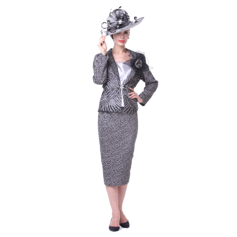 Kueeni women church suits 3pcs jacket vest skirt elegant for Womens dress jacket wedding