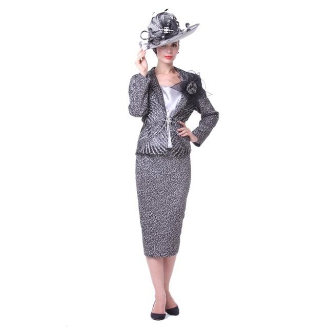 Kueeni Women Church Suits 3pcs Jacket Vest Skirt Elegant Lady ...