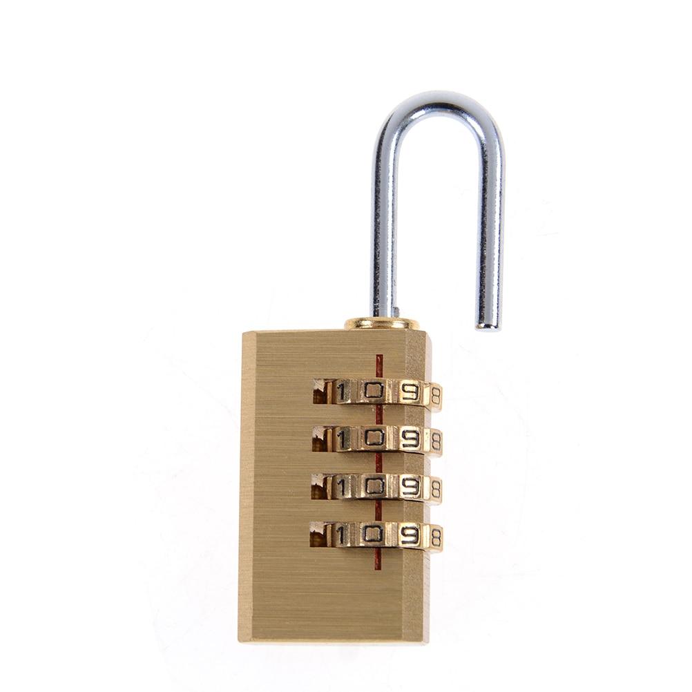 1PCS Mini 4 Digits Number Password Code Lock Combination Padlock Resettable for Travelling Bag Door 6cm x 2cm x 1cm High Quality danjue серый 19cm x 9cm x 2cm