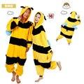 Factory Made nuevo adultos Animal Bee amarillo Color de invierno pijama pijama pijamas pijamas Unisex para el partido ropa talla sm LXL