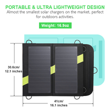 14W Solar Panel Portable Foldable Waterproof Charge bag Outdoor Dual 5V2.1A USB Solar Panel Charger Power Bank for Phone Battery цена
