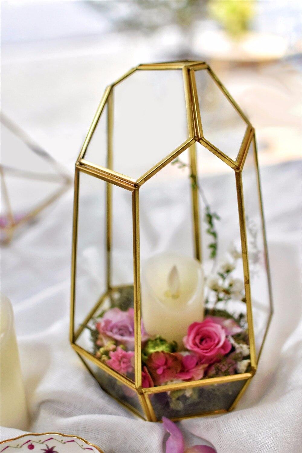 25 cm irrégulier verre géométrique Terrarium conteneur Vase Air plantes succulentes fleur planteur Pot pour mariage maison de table décor