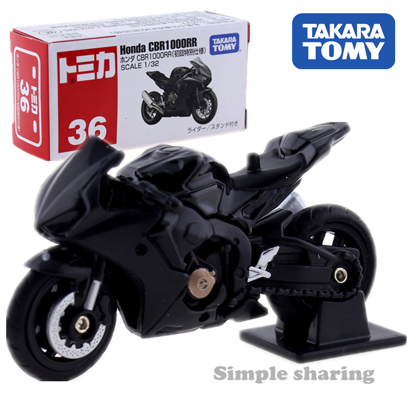 Takara Tomy Tomica World No.36 Honda CBR1000RR Motorcycle Model Kit Diecast Car Toy Hot Pop Miniature Motorbike Funny Baby Toys