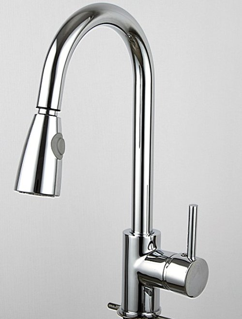 Free shipping!100% brass Thicken Chrome body spray bathroom basin sink taps.faucet kitchen pull out.1pcs/lot