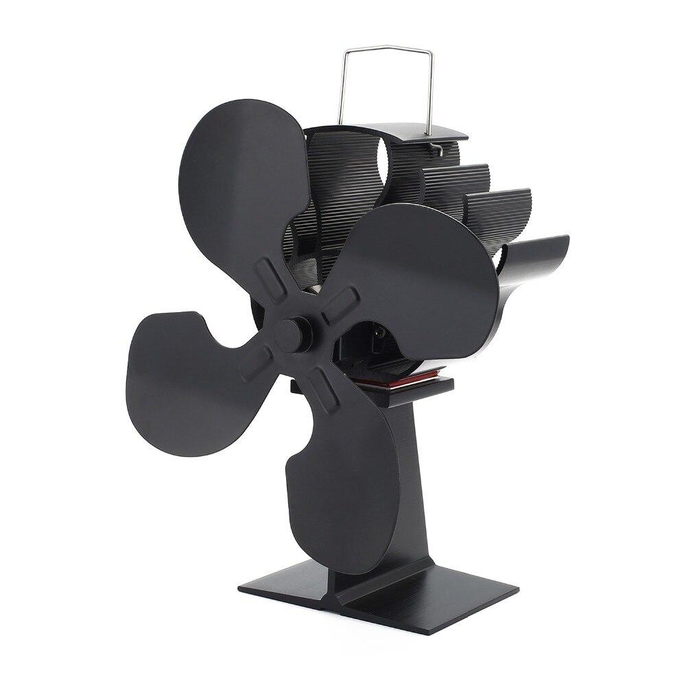 4-Blade Heat Powered Stove Fan for Wood / Log Burner/Fireplace - Eco