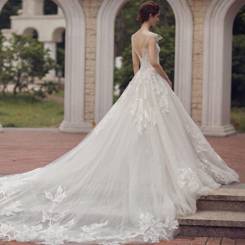 long half sleeve muslim lace font b wedding b font dress high quality 2016 bride simple