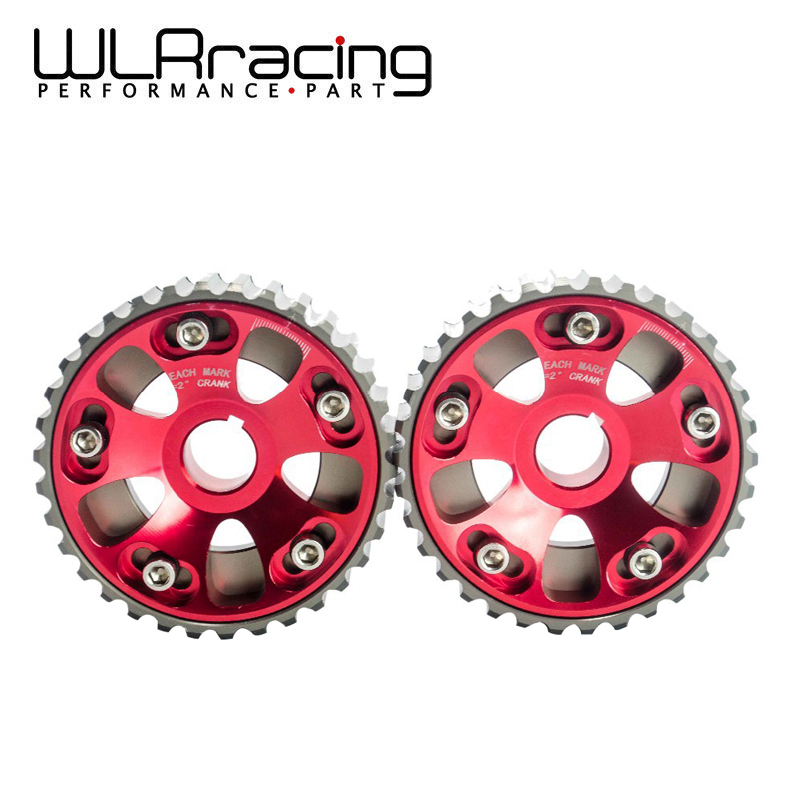 WLR RACING - Adjustable DOHC Cam Gears Alloy Timing Gear For Honda Civic B16A B16B WLR6532R