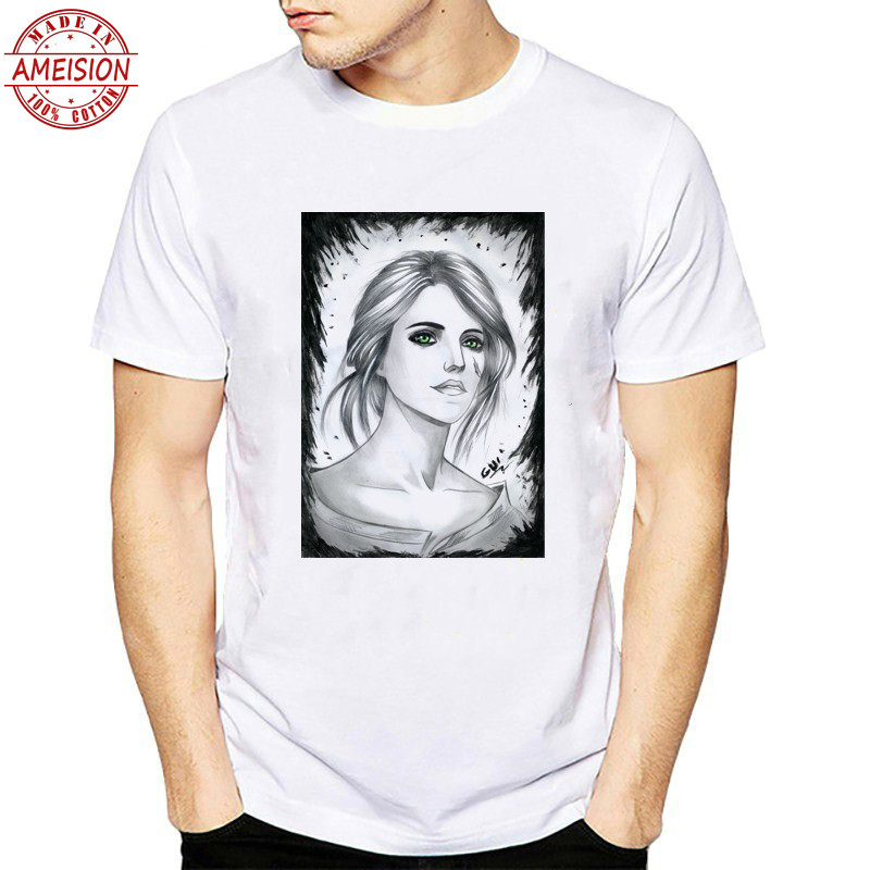 2019 The Witcher 3 T Shirt Men Fashion Harajuku Summer Tops Tee O neck Short Sleeve Mens Game T shirt Clothing Cool Tshirt in T Shirts from Men 39 s Clothing