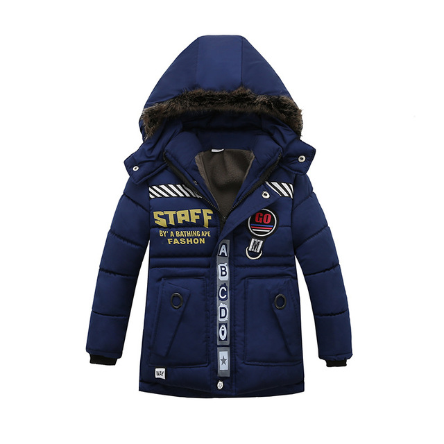 Winter Warm Coat Children Outerwear Kids Clothes Windproof Baby Boys Girls Jackets For 2-6 Years Old Outwear & Coats