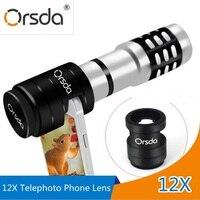 Orsda HD 12x Zoom Optical Telescope Telephoto Lens Kit Phone Camera Lenses With U Type Patented