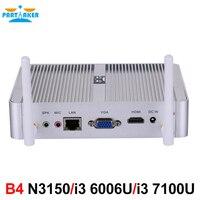 Причастником B4 Intel 14nm 4 ядра N3150 Dual core i3 6006U i3 7100U процессор HTPC мини-ПК с HDMI VGA 4 K HD