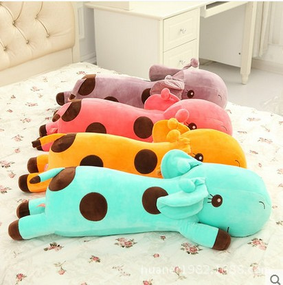 4 Kinds Cute High Quality Plush Lie Giraffe Pillow Staffed Deer Plush Toy Nap Pillow Christmas Gift 35cm 40cm 60cm