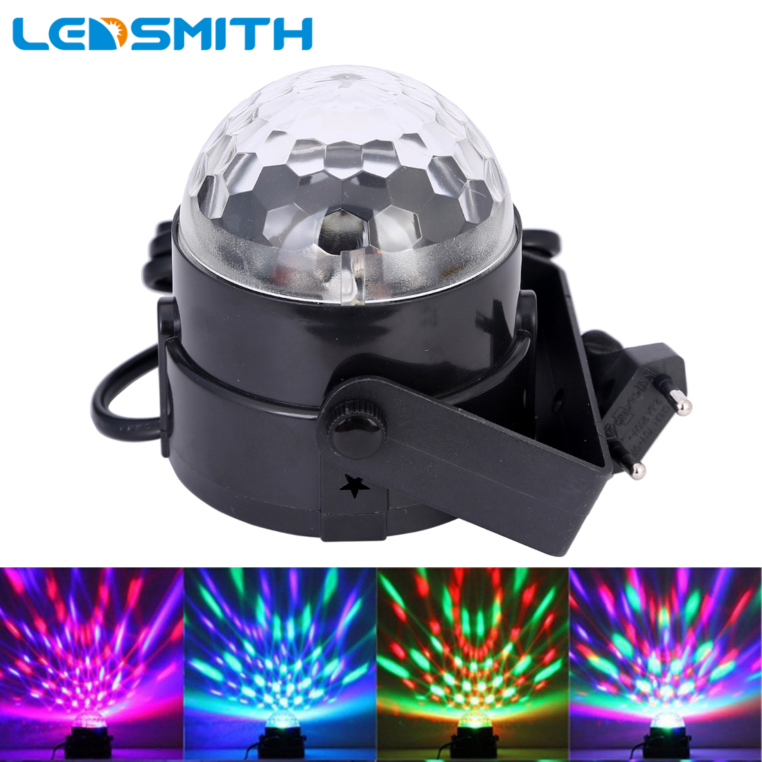 Voice Activated 3W Mini RGB LED Projector Magic Ball DJ Lighting Disco Dance Light Bar Party KTV Stage Lights Effect Show 6w e27 led stage light rgb lamp with voice activated mp3 projector crystal magic ball rotating disco dj party stage lighting
