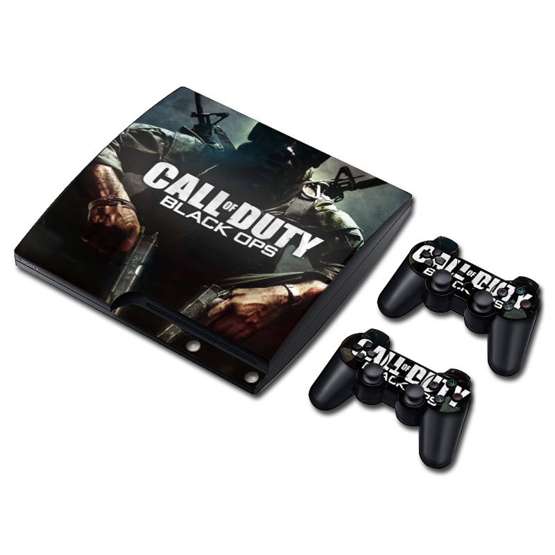 Call of Duty Black OPS Vinyl Skin Sticker For Sony PlayStation 3 Slim Console and Controller Skin