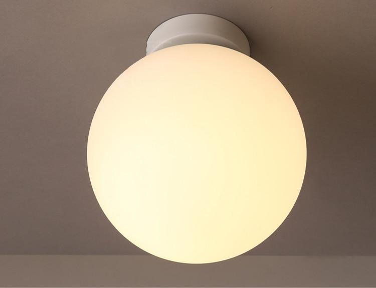 Badkamer Plafondlamp Led : Moderne korte vintage ameican land glazen bal ijzer led