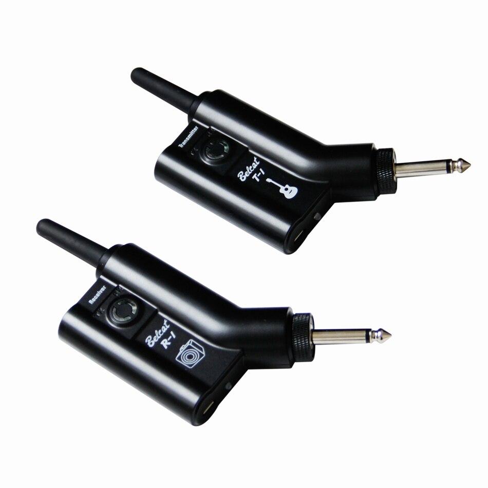 Guitare accessoires T-1/R-1 Sans Fil Émetteur et Récepteur numérique transmission système basé sur UHF Pas perdu en qualité sonore