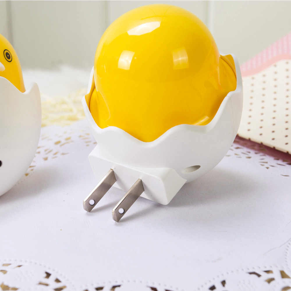 AC 110-220 V светильник в виде утки Датчик управления подарок для детей милый светодиодный ночник настенная лампа в розетку лампа для спальни желтая вилка США