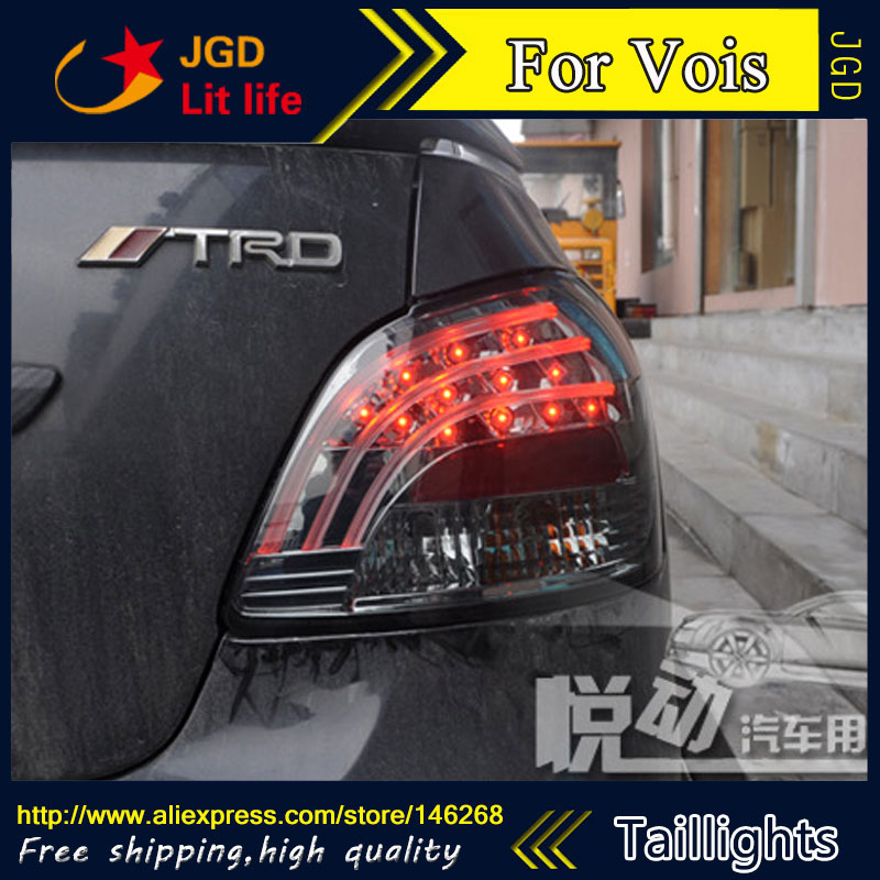 Car Styling tail lights for Toyota Vios taillights LED Tail Lamp rear trunk lamp cover drl+signal+brake+reverse car styling tail lights for toyota camry v50 2012 2014 led tail lamp rear trunk lamp cover drl signal brake reverse