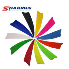Sharrow 20PCS 3inch Archery Turkey Feather 8 Colors Arrow Feather for Archer Bow Fletched Hunting Shooting(China)
