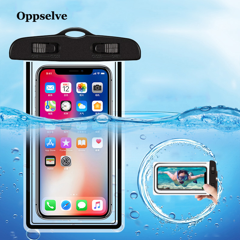 Universal Waterproof Mobile Phone Case For iPhone Xs X 8 Samsung S9 Clear PVC Sealed Underwater Cell Smart Phone Dry Pouch Cover mobile phone