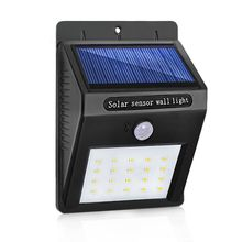 LED Solar Lamp Waterproof PIR Motion Sensor Garden Light Powered Wall Lamp for Outdoor Lighting LED Solar Light