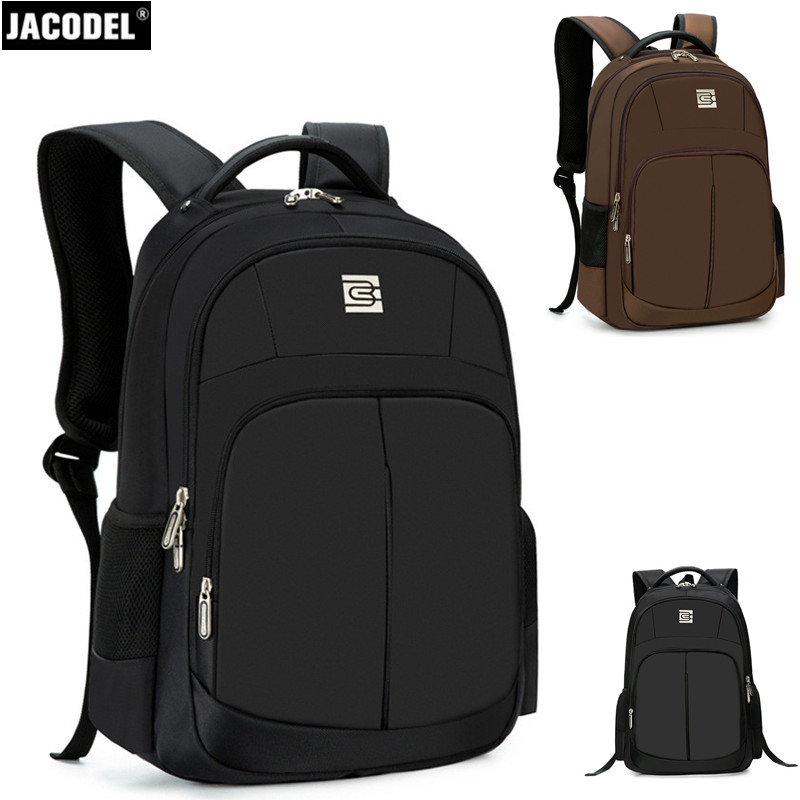 все цены на Jacodel 2017 Business 17 18 Inch Laptop Backpack Large Computer Backpack Bag for 15.6 16 inch Notebook Computer Laptop Bag Case онлайн