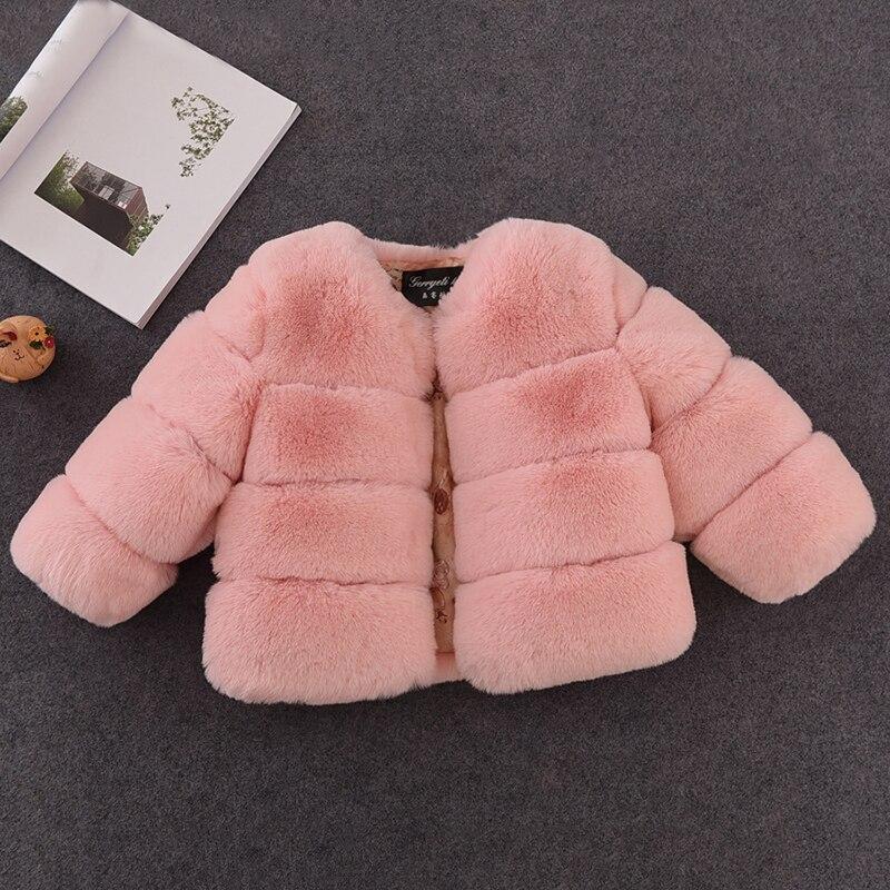 2c0e441cefb783 Beste Koop Nieuwe Winter Meisjes Bontjas Elegant Meisje Faux Fur Jassen  Dikke Warme Parka Kids Bovenkleding Kleding Meisjes jas Goedkoop