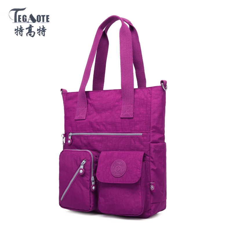 TEGAOTE 2017 Top-handle Bag Handbags Women Famous Brand Nylon Big Shoulder Beach Bag Casual Tote Female Purse Sac Bolsa Feminia top handle bag shoulder luxury handbags women messenger bags designer nylon female beach casual tote purse sac femme bolsa