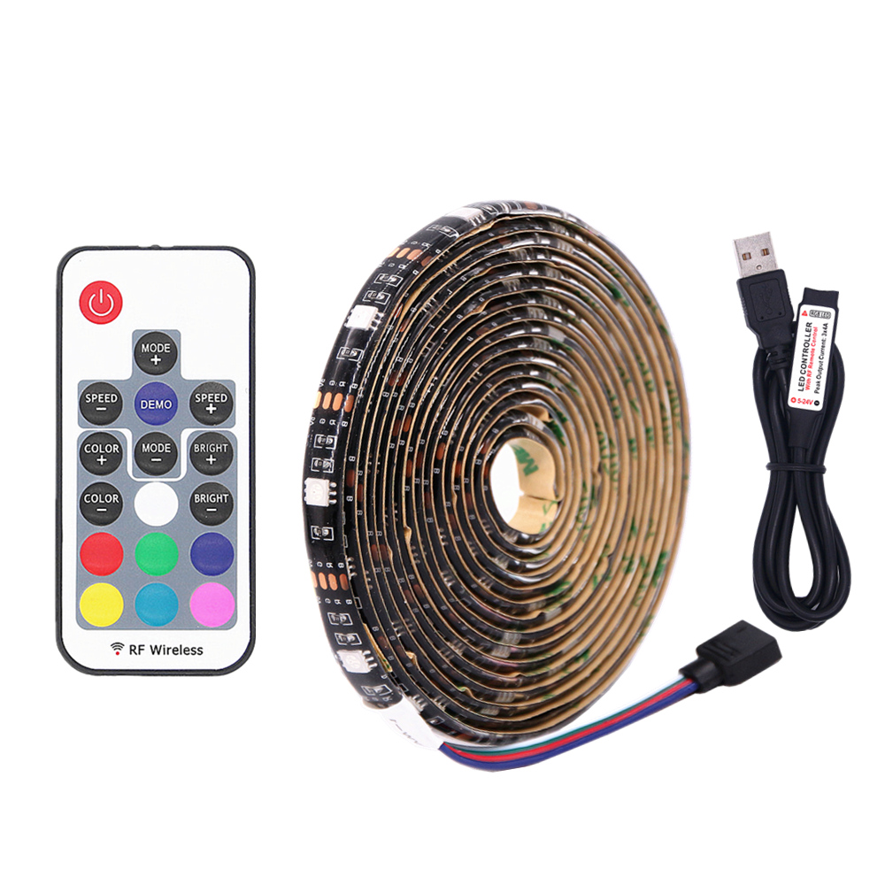 DC 5V RGB Flexible USB led strip light 5050 SMD sting Ribbon Adhesive tape TV Background lighting IP20 / IP65 1m 2m 3m 4m 5m