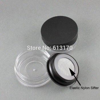 25g cream jar loose powder jar with Nylon mesh puff powder jar, nail art box sub-boxing jar free shipping